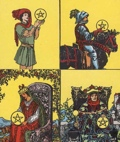 Pentacles Court in Tarot