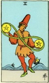 Tarot Two of Pentacles