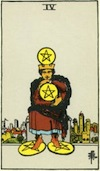 Tarot Four of Pentacles