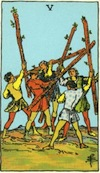 Tarot Five of Wands