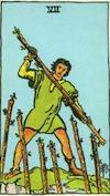 Tarot Seven of Wands