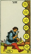 Tarot Eight of Pentacles