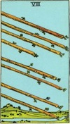 Tarot Eight of Wands