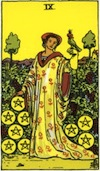 Tarot Nine of Pentacles