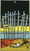Tarot Ten of Swords