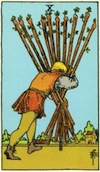 Tarot Ten of Wands
