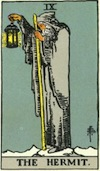 Tarot Hermit (Major Arcana)