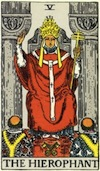 Tarot Hierophant (Major Arcana)