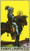 Tarot Knight of Pentacles