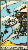 Tarot Knight of Swords