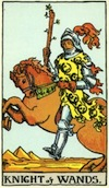 Tarot Knight of Wands